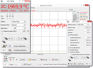 SensorTools software with highspeed control pyrometers