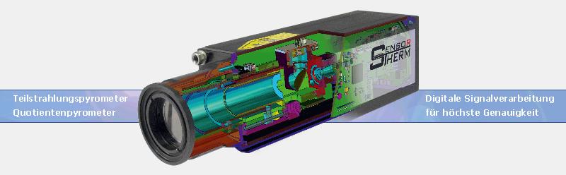 Pyrometer-Visualisierung innen und außen.