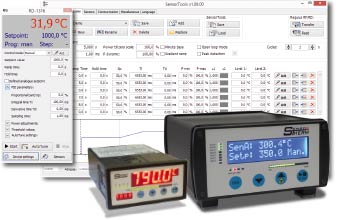 SensorTools software with PID program controllers Regulus