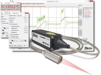 SensorTools software with control pyrometers